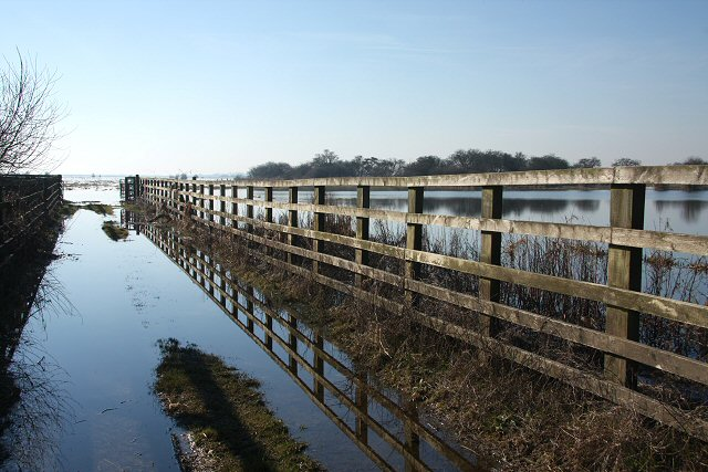 Fenced gateway to the Ouse Washes