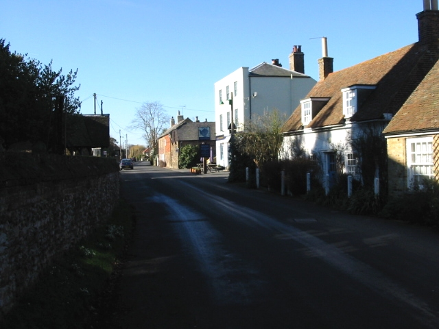 View along The Street, Worth