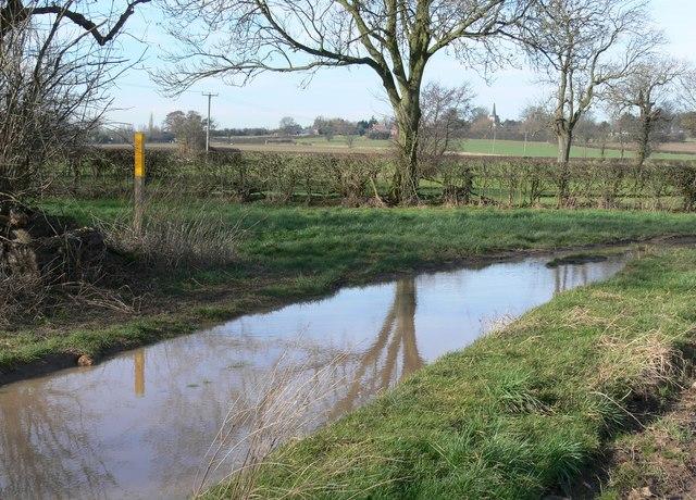 Flooded public bridleway