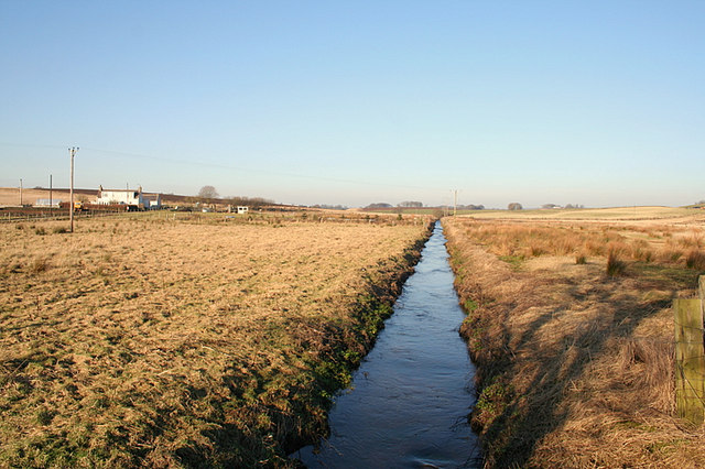 Drainage ditch east of the Mill of Greens
