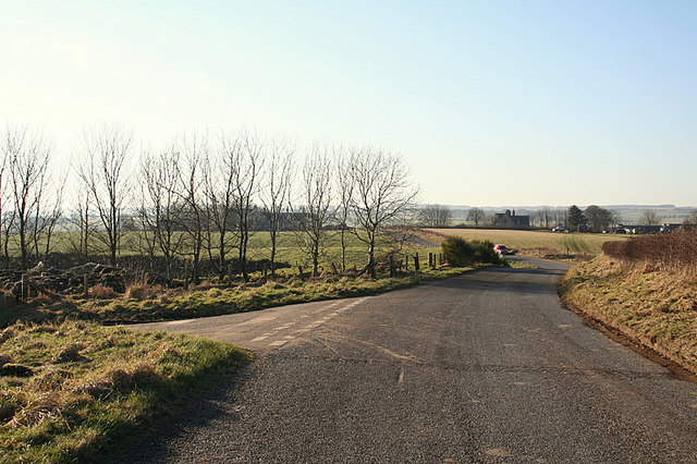 Upperton Farm beyond the road junction to the right