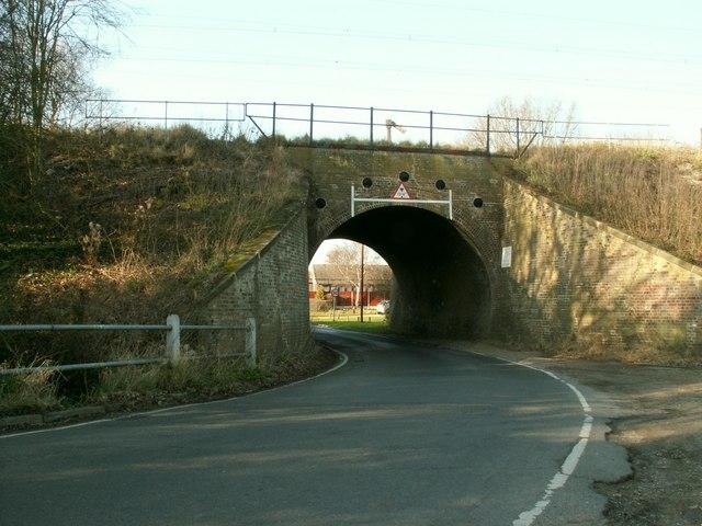 The railway bridge on Burnthouse Lane
