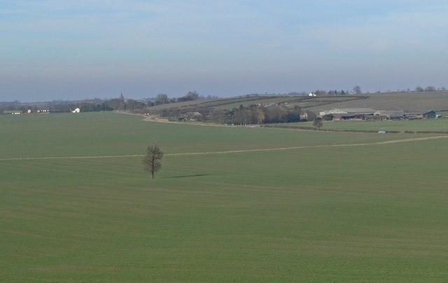 View towards Austrey in Warwickshire
