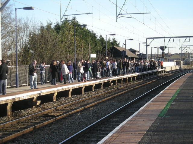 Aston Station: Going home after the match
