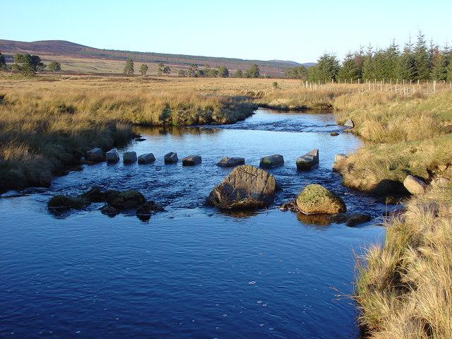 Looking west along the Abhainn Sgitheach river