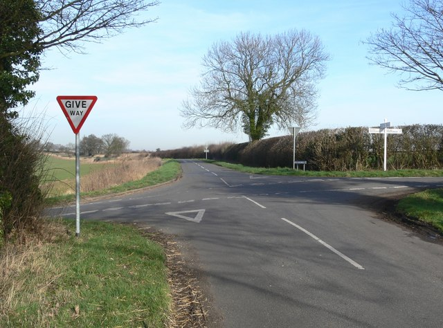 Crossroads near Orton-on-the-Hill