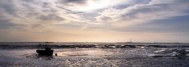 Westcliff-on-Sea:  Thames Estuary Mudflats Towards Kent 2005