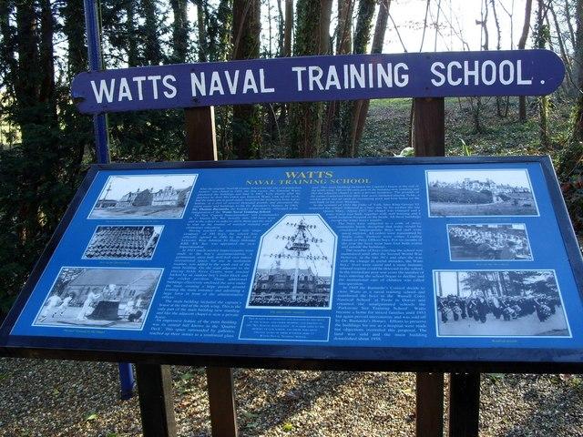Information Board, Watts Naval Training School