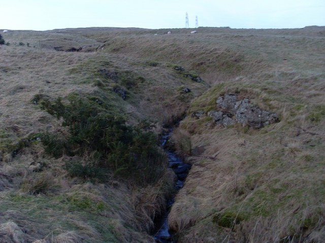 Following small tributary valley to summit of Cochno Hill