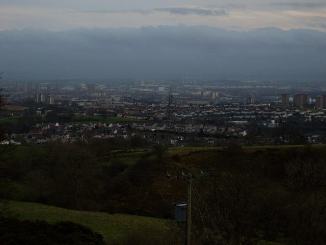 View back to Glasgow from Kilpatrick Hills