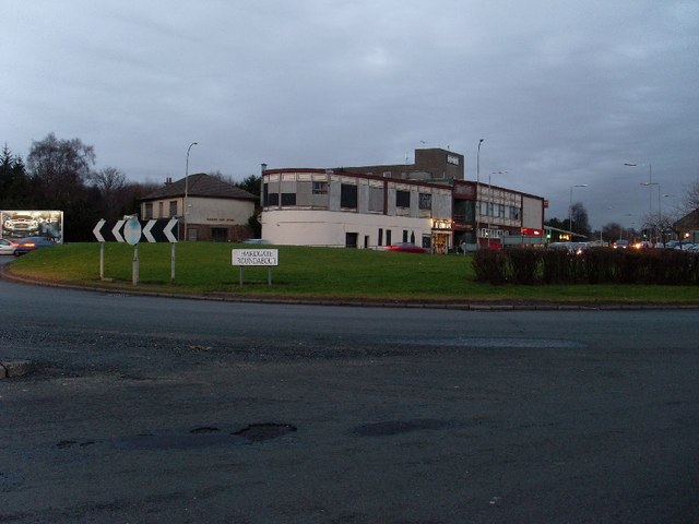 Looking across Hardgate Roundabout