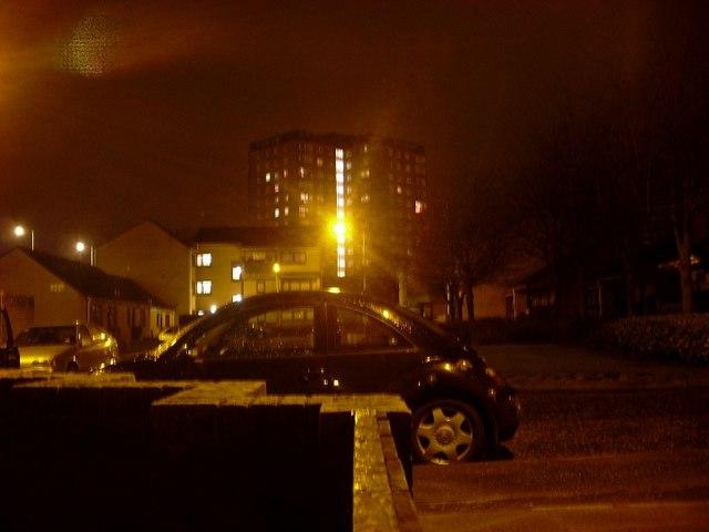 Nairn Place, Dalmuir at night