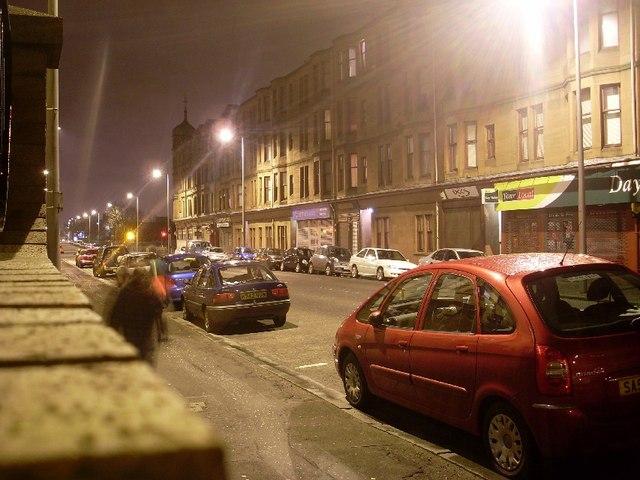 Dumbarton Road, Dalmuir at night
