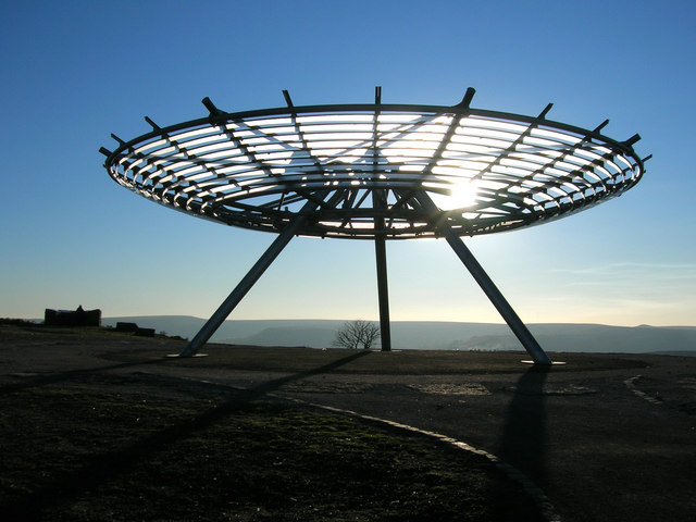 Halo sculpture at Top '0 Slate Haslingden