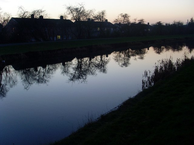 Reflections on the canal, Clydebank