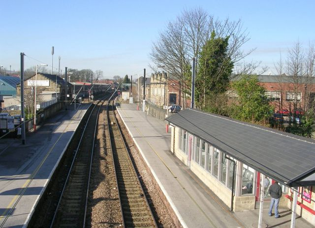 guiseley station looking towards betty longbottom. Black Bedroom Furniture Sets. Home Design Ideas