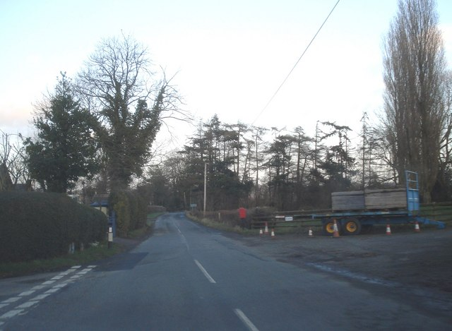 Road junction at Bank