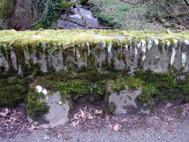 Bench mark on bridge