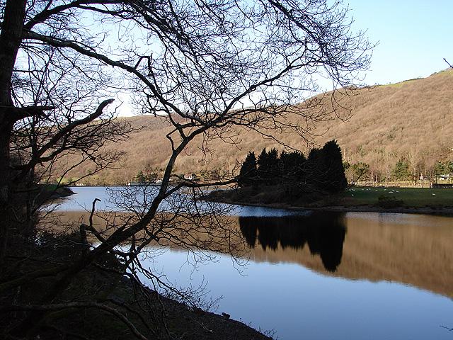 The Rheidol dam reservoir