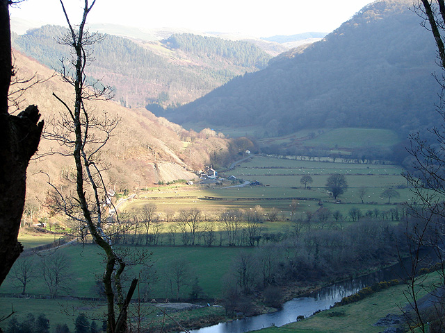 The Rheidol Valley, looking eastwards from Rheidol Falls Station