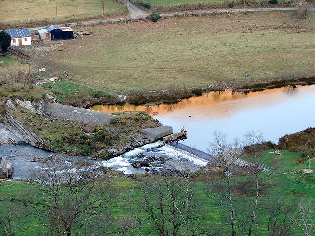 Weir at Rheidol Falls