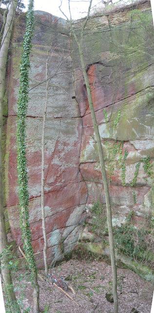 Corner crack at Harmer hill quarry