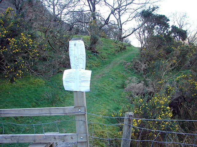 New right of way at Rheidol Falls