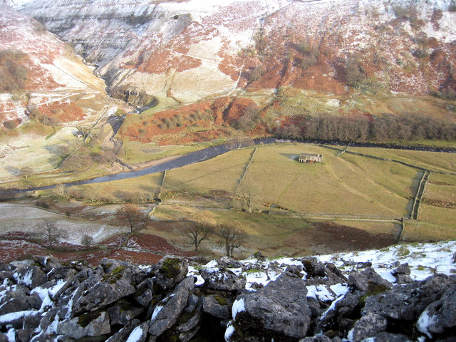 Looking down on the river Swale