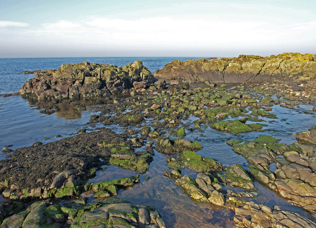 Rocky shore near Fisherton