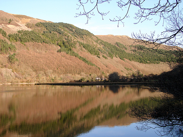 The Rheidol dam reservoir