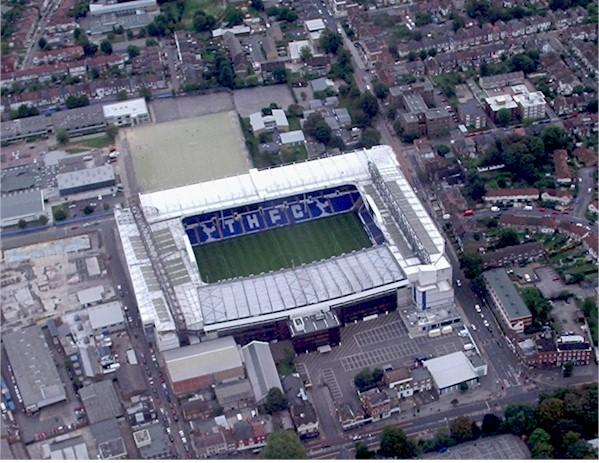 Aerial view Tottenham Hotspur Football Club