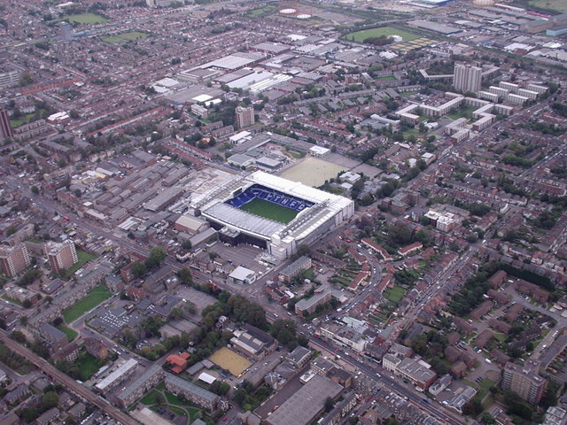 Aerial view Tottenham Hotspur Football Ground