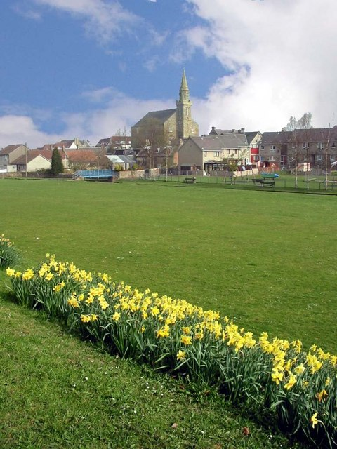 Ceres green and church