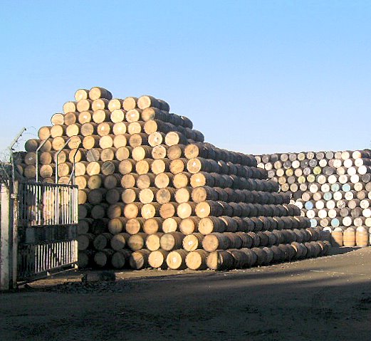 Barrels at the Cooperage