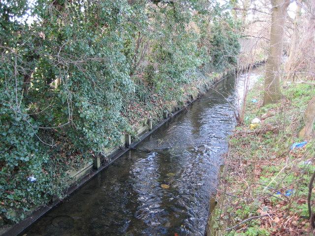 Beverley Brook in Motspur Park