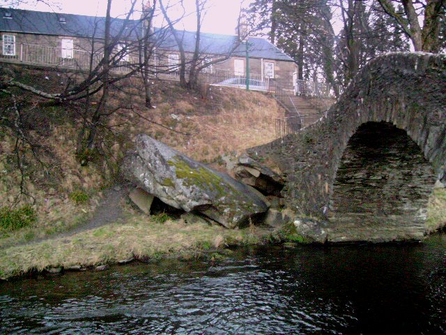Campbells Stone by the Auld Brig