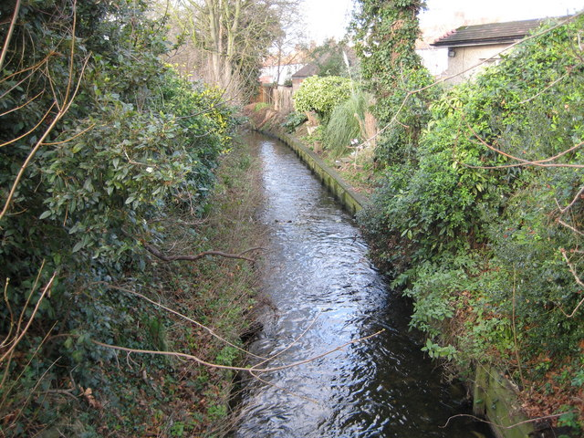 Beverley Brook in West Barnes