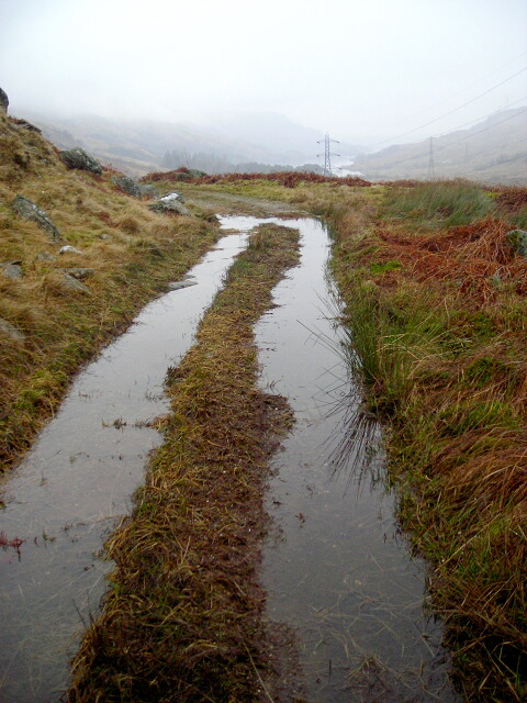 Waterlogged Track in Glen Gyle