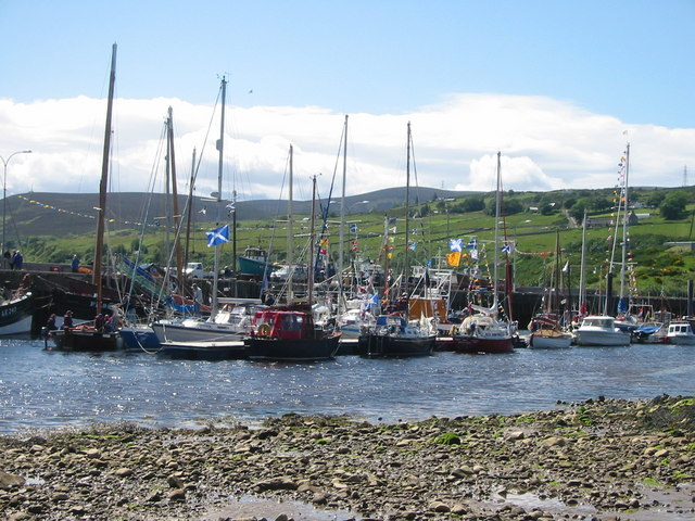Gala Day at Helmsdale Harbour.