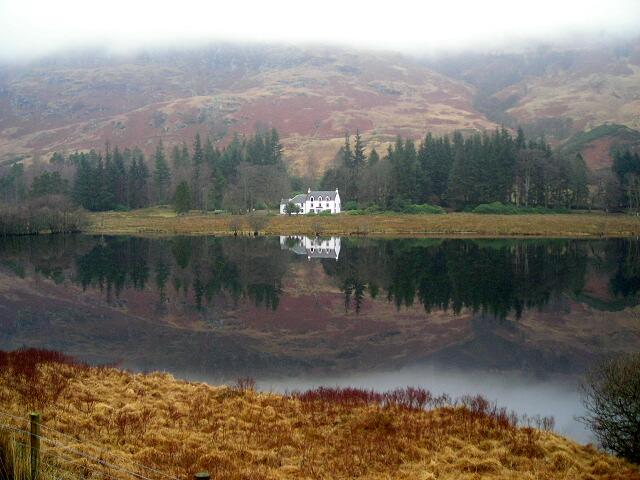 Glengyle House and Loch Katrine
