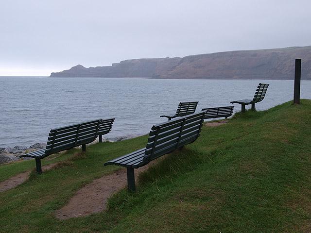 Five benches, Runswick Bay