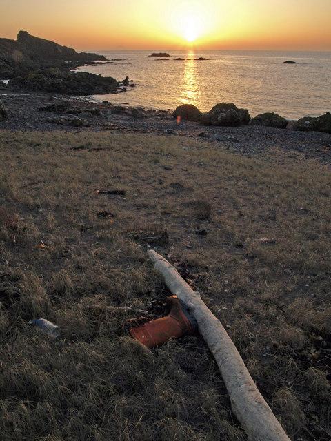 Washed up sunset