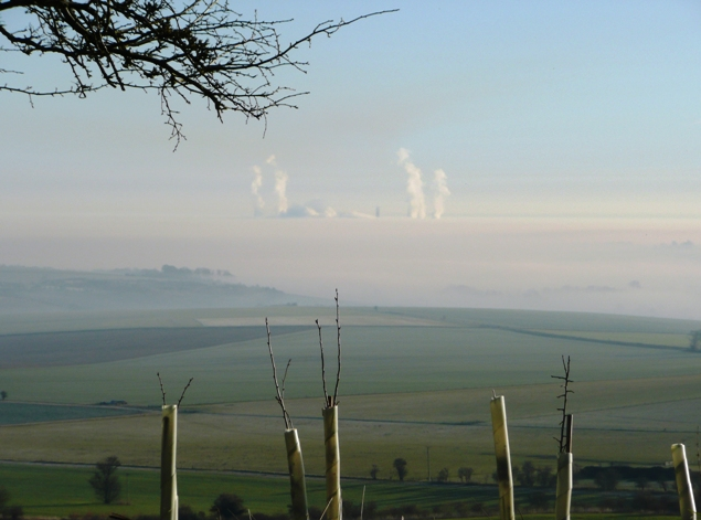 Temperature inversion over the Vale