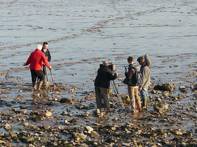 Film crew, Severn Estuary