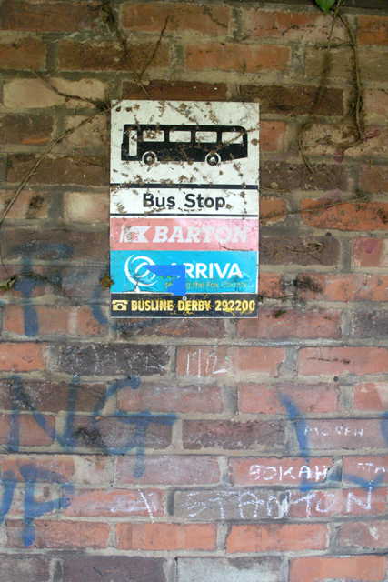 Bus Shelter sign
