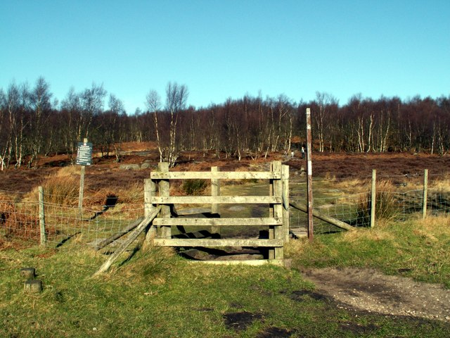 A gate to Hathersage Moors