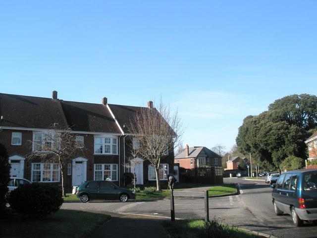 Modern housing at Langstone