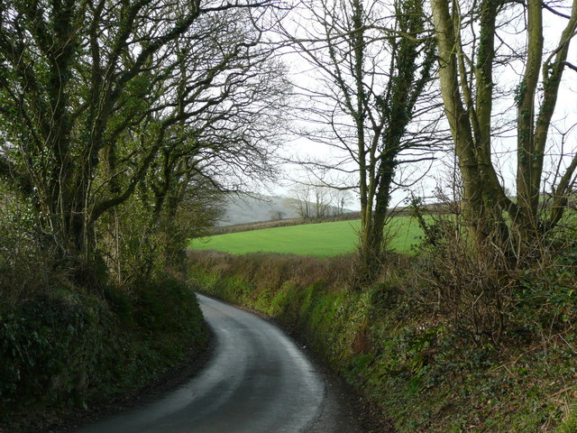 Road to St Beock Downs