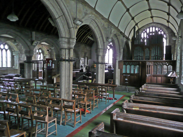 Interior of St Tetha's church