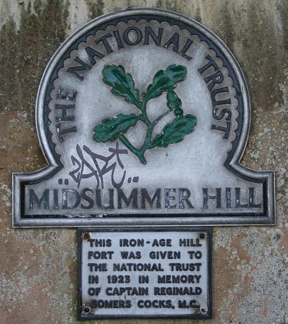 National Trust Plaque, Midsummer Hill
